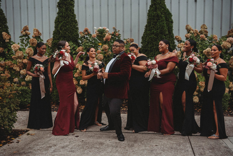 Stratton Hall, groom, fall wedding, storytelling images, bridesmaids, funny shots, dancing