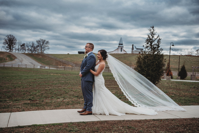 Howe Farms, first look, winter wedding, amazing skies