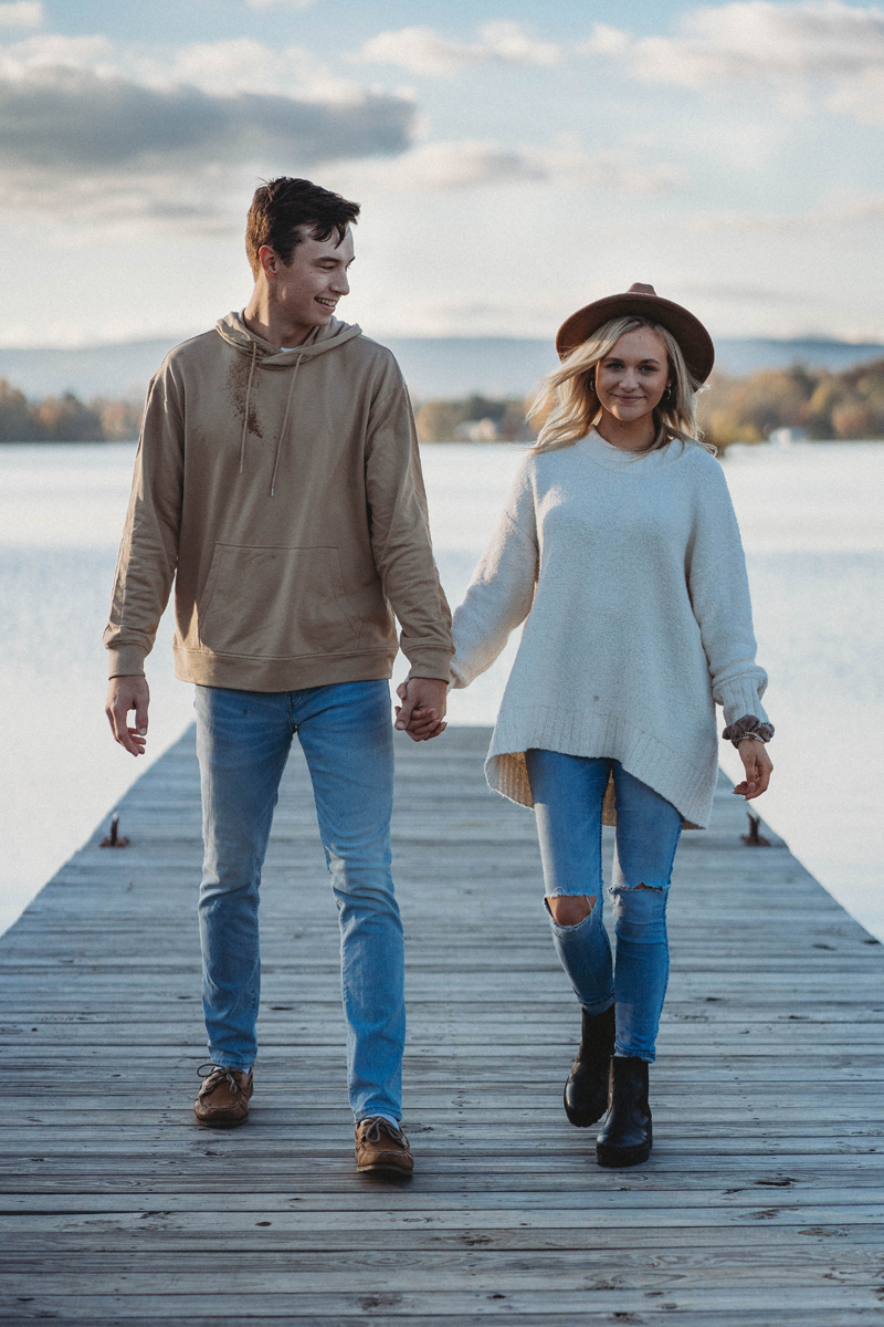 Engagement session at Harrison Bay State Park