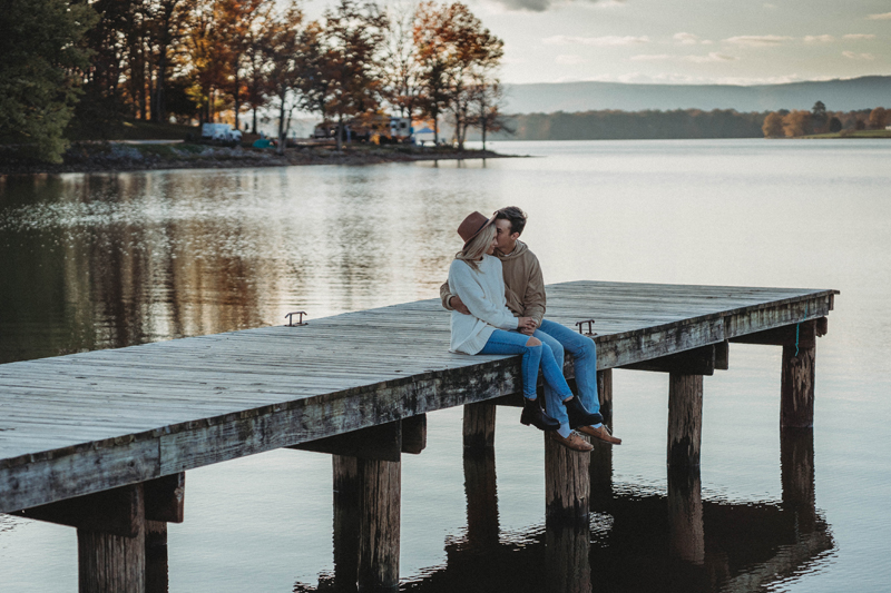 Engagement session, Harrison Bay State Park, storytelling images, fall