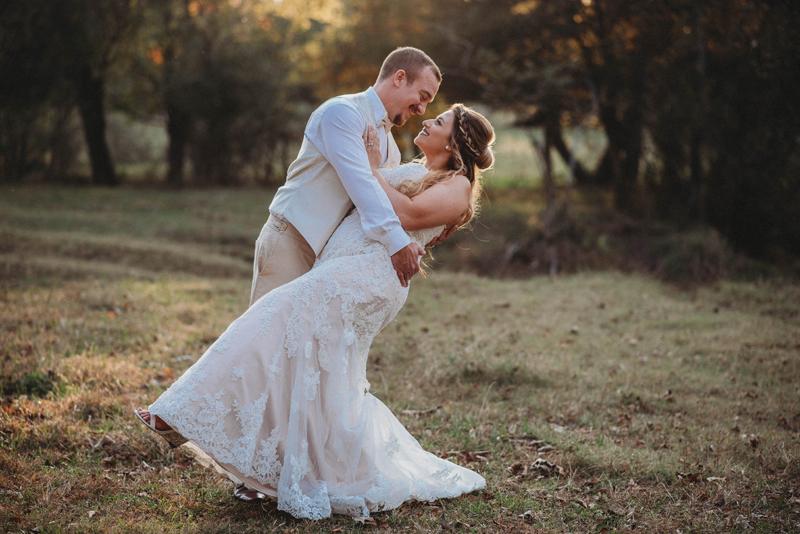 Intimate, fall wedding, Chattanooga TN, barn wedding, bride and groom