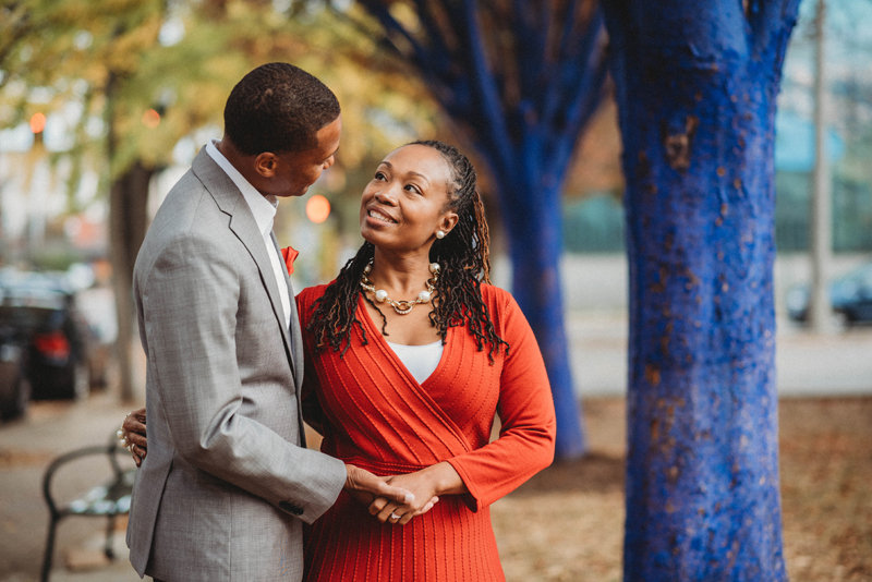 Engagement session Downtown Chattanooga