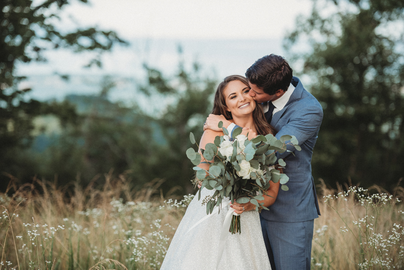 Coal City Bluff, mountain views, Chattanooga TN, bride and groom, macrame, sunset