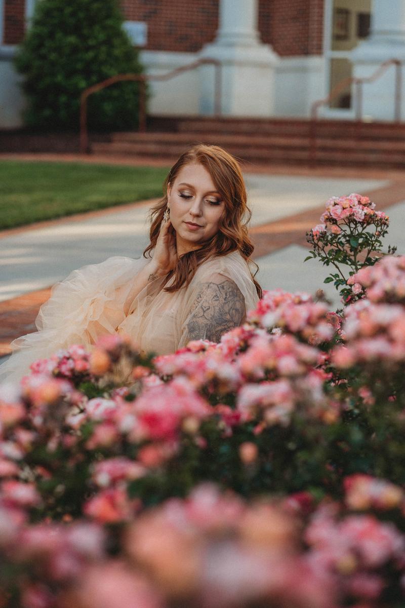 roses, maternity, ruffle dress